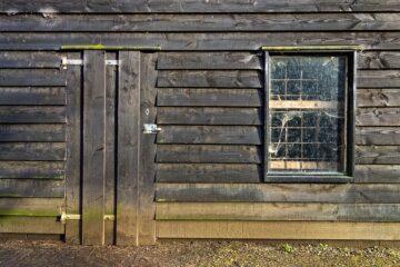 Beskidt vindue i hytte der trænger til at blive pudset